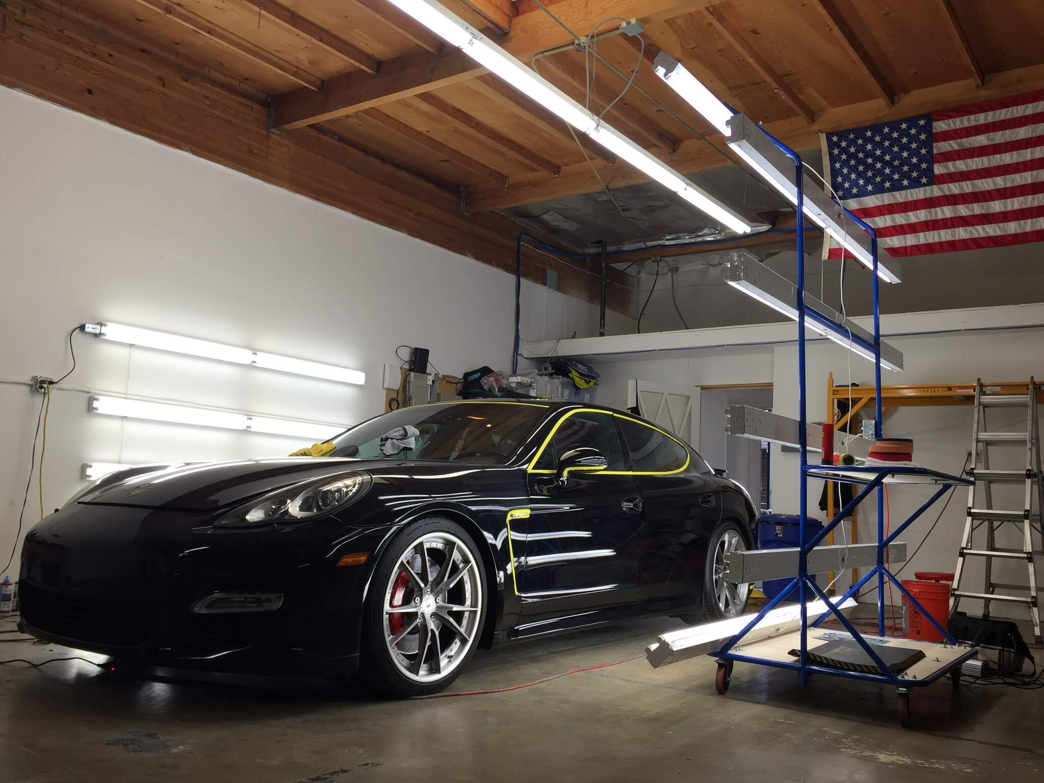 Black Porsche Paint Sealant